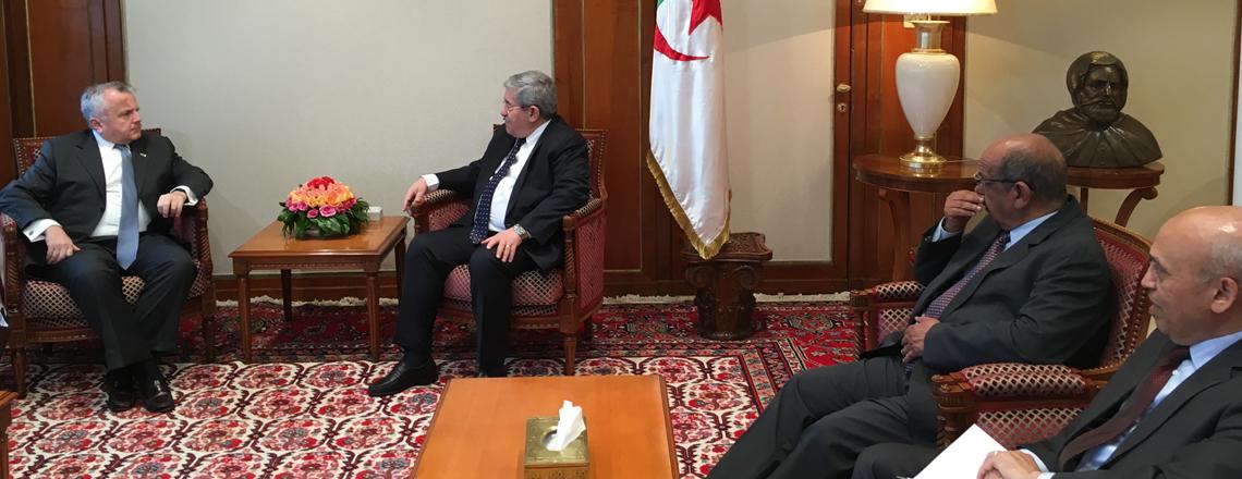 Deputy Secretary Sullivan with Algerian PM Ahmed Ouyahia